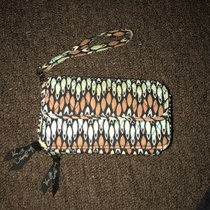 Vera Bradley wristlet wallet  with phone holder